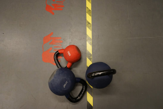 Kettlebells Workout Equipment on The Floor