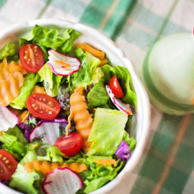 Fresh Vegetables Salad in A Bowl