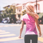 Fitness Runner Crossing The Road