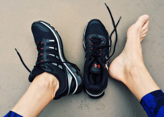 Fit Woman Wearing Running Shoes