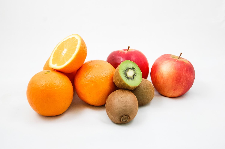 Healthy Foods Oranges, Kiwi Fruit, and Apples