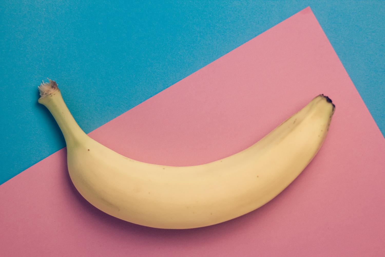 One Ripe Banana Shot in Studio
