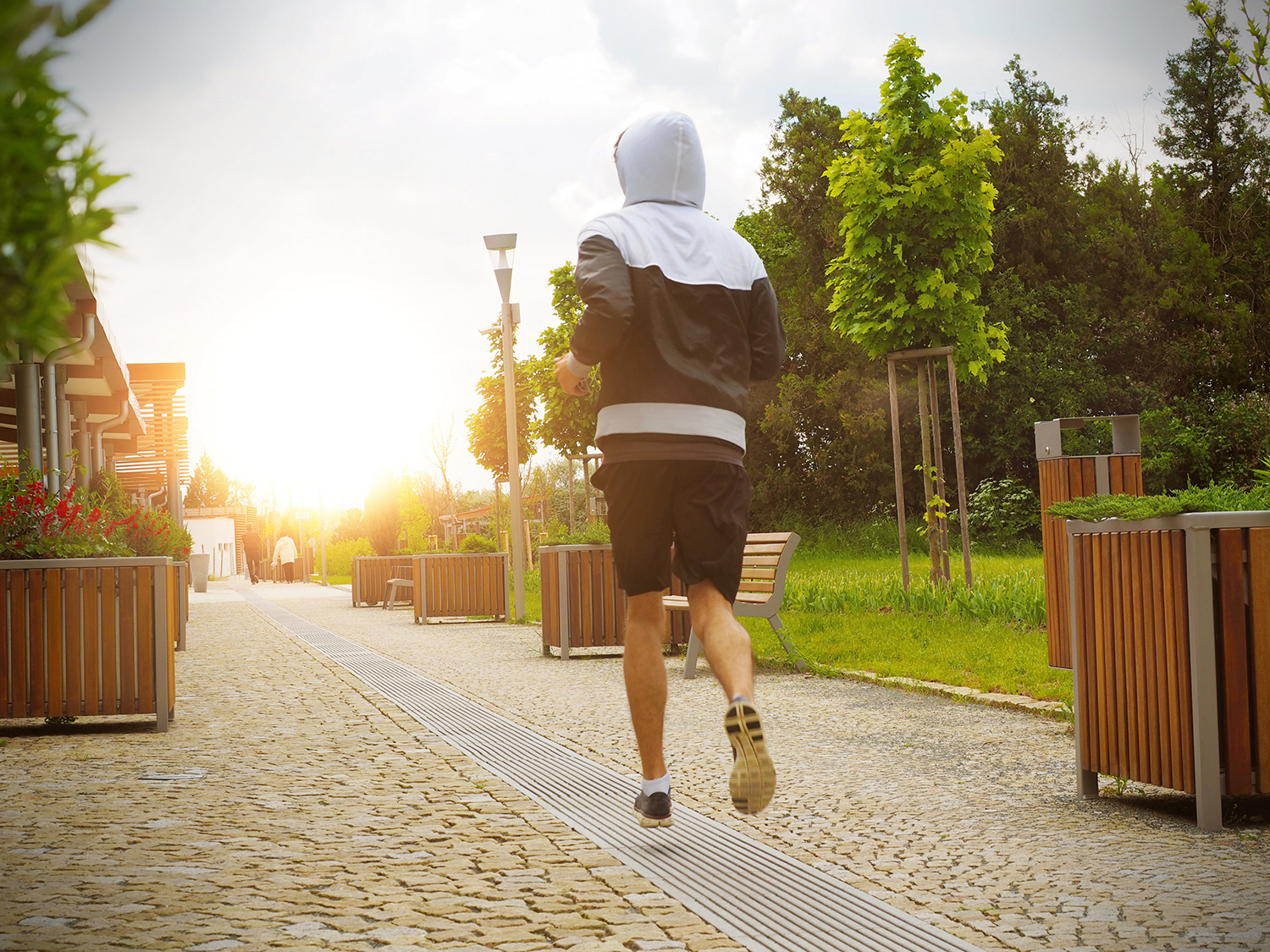 Fitness Man Running In The Park