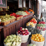 Street Grocery Market With A Lot of Fruits