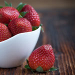 Ripe Strawberries in A Bowl