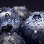 Blueberries Fruit With Water Drops