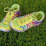 Running Shoes On The Grass