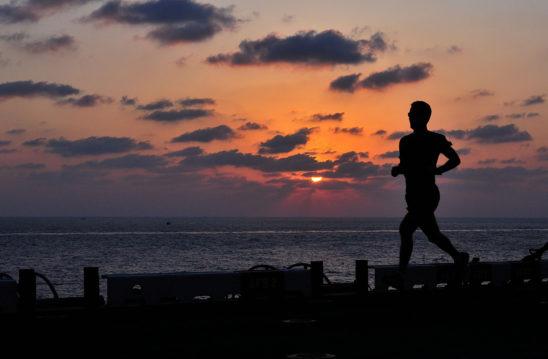 Illustration of Fit Man Running
