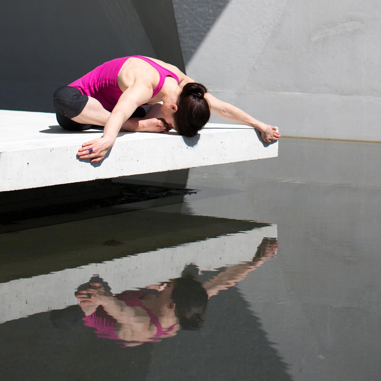 Peaceful Woman Practicing Yoga