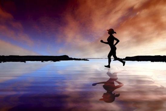 Female Runner Running Outdoors
