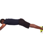 Strong Man Training The Core With Ab Wheel Roller