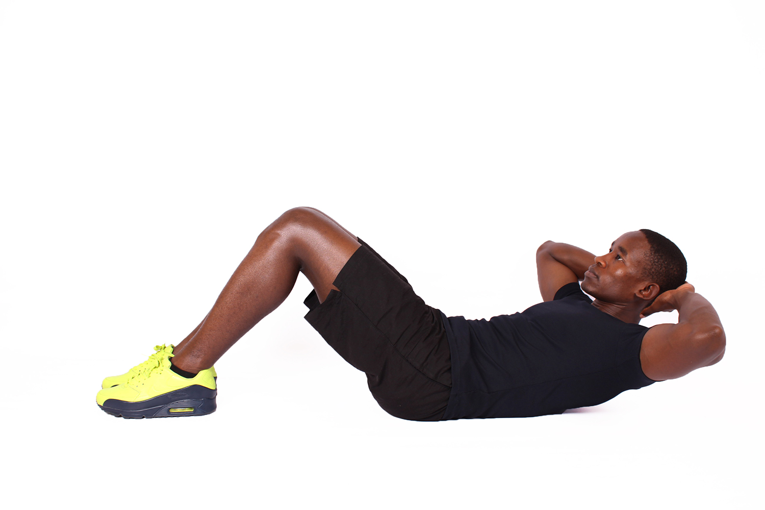 Fitness Man Doing Crunches Ab Exercise