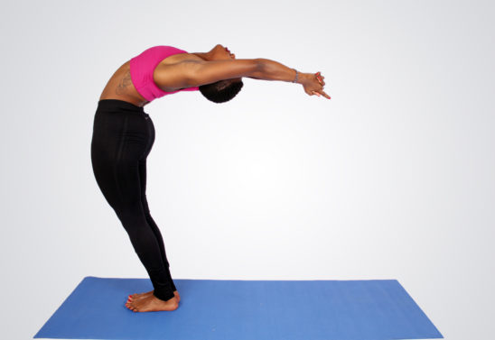 Flexible Woman Doing Backbend Yoga Pose