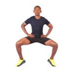Athletic Man Doing Tip Toe Sumo Squats