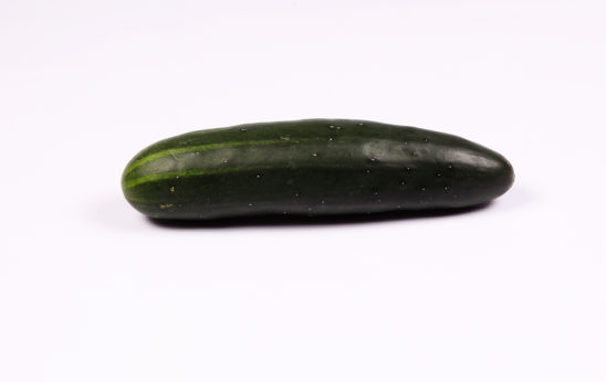 Cucumber on isolated white background
