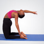 Exercise woman doing yoga pose