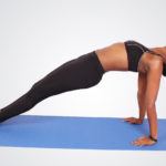 Fitness woman doing inverse plank exercise