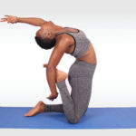 Fitness woman doing yoga pose