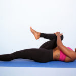 Fitness woman stretch hamstring and lower back