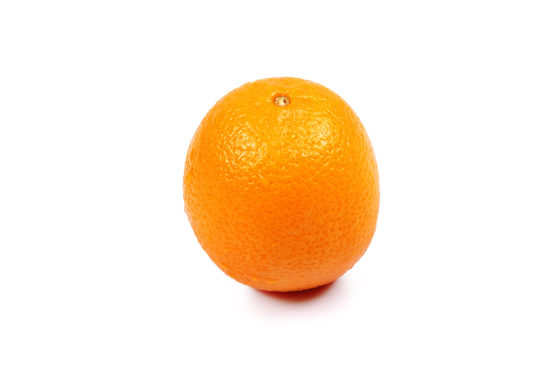 One orange on isolated white background
