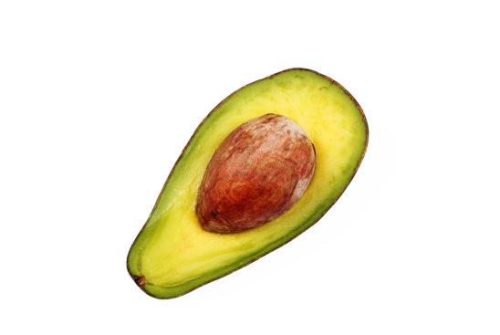 One slice of avocado