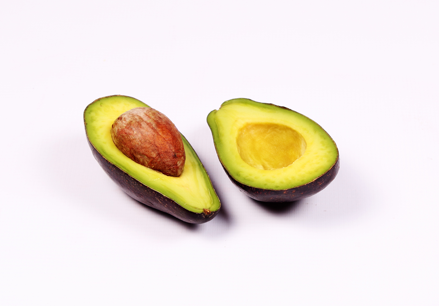 Two slices of avocados