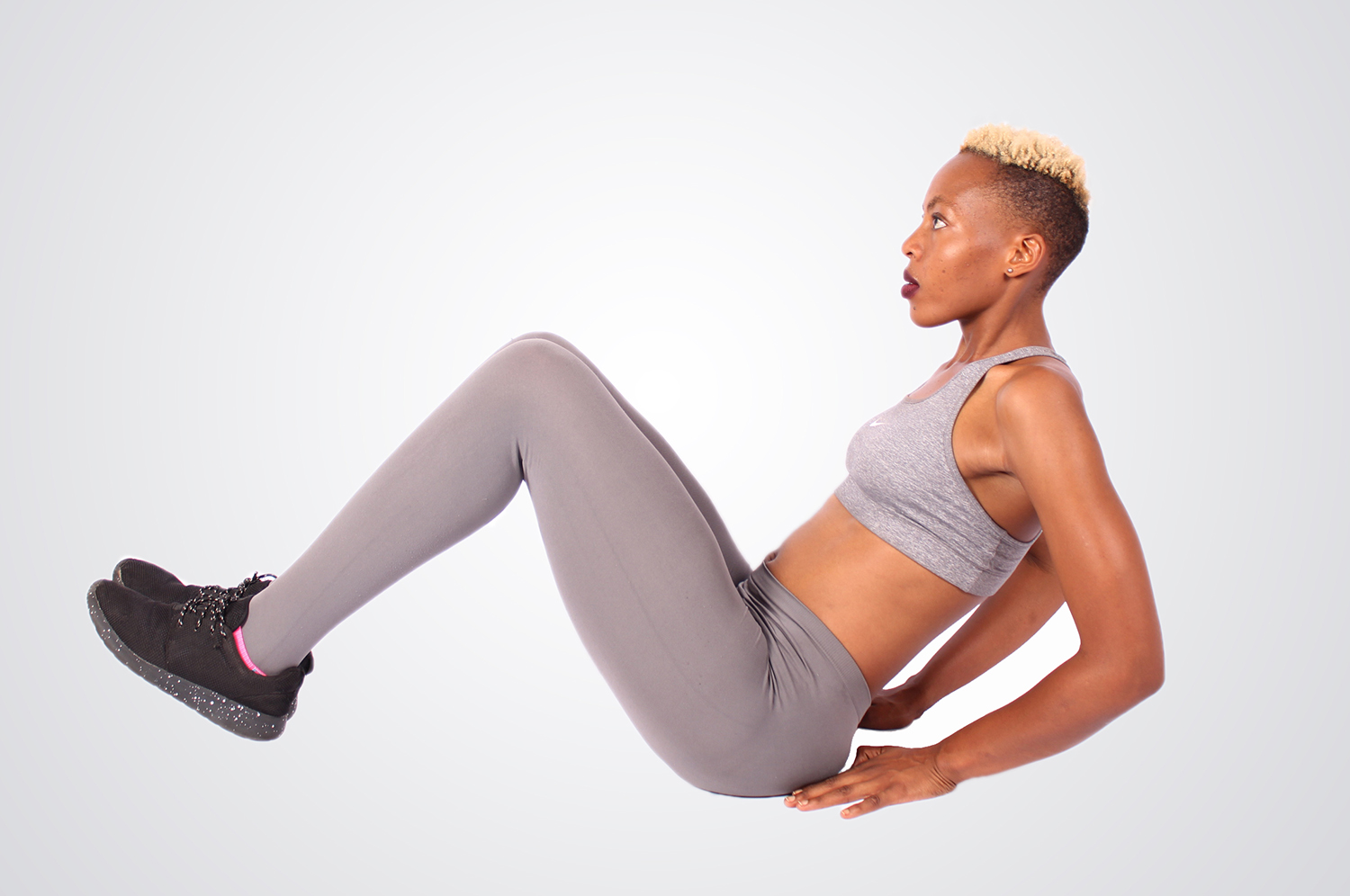 Woman Doing Ab Crunches Sit Ups