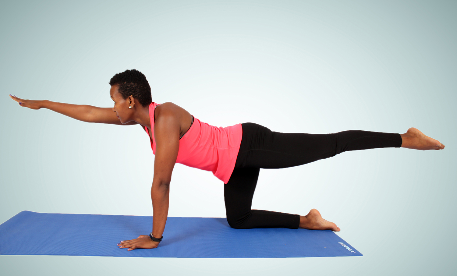 Woman Doing Bird Dog Exercise To Strengthen Core High