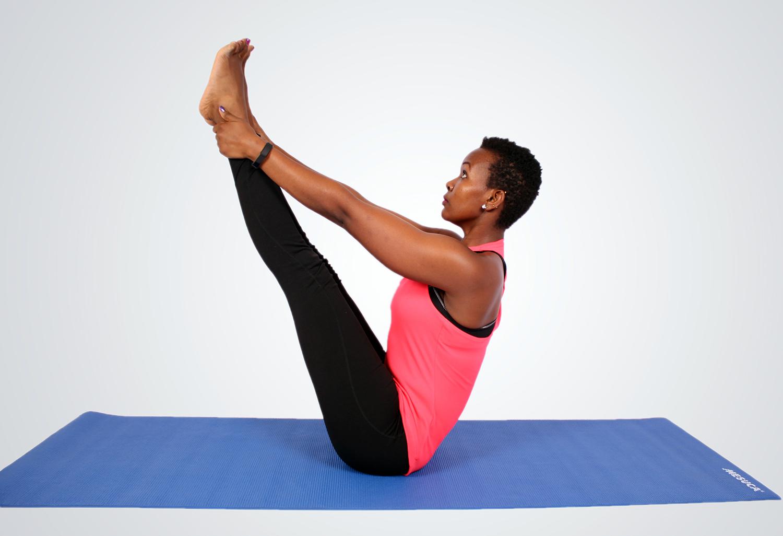Yoga woman doing balancing exercise