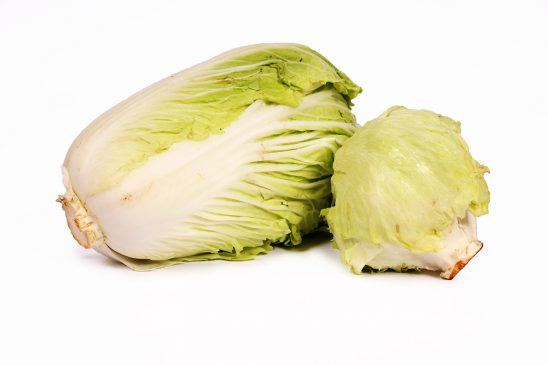 Close up cabbage isolated on white background