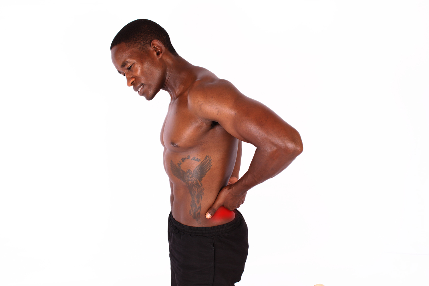 Fitness man with lower back pain