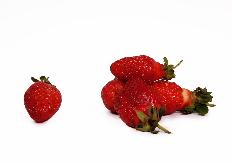 Fresh strawberries Isolated on white background