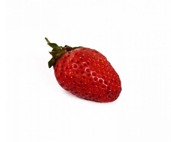Fresh strawberry fruit on white background