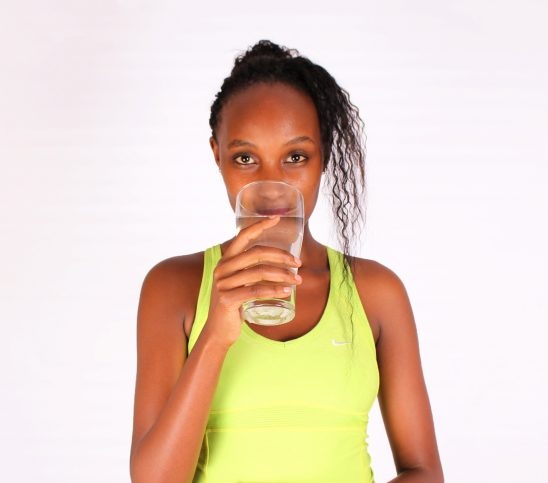 Healthy lifestyle woman drinking water