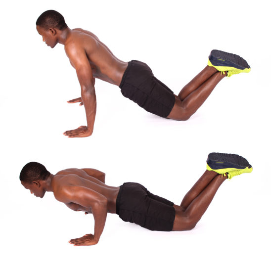 How to do knee push ups