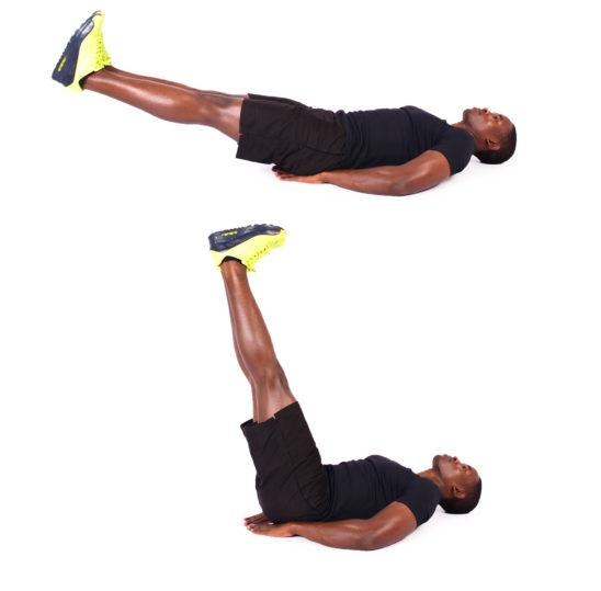How to do lying leg raises