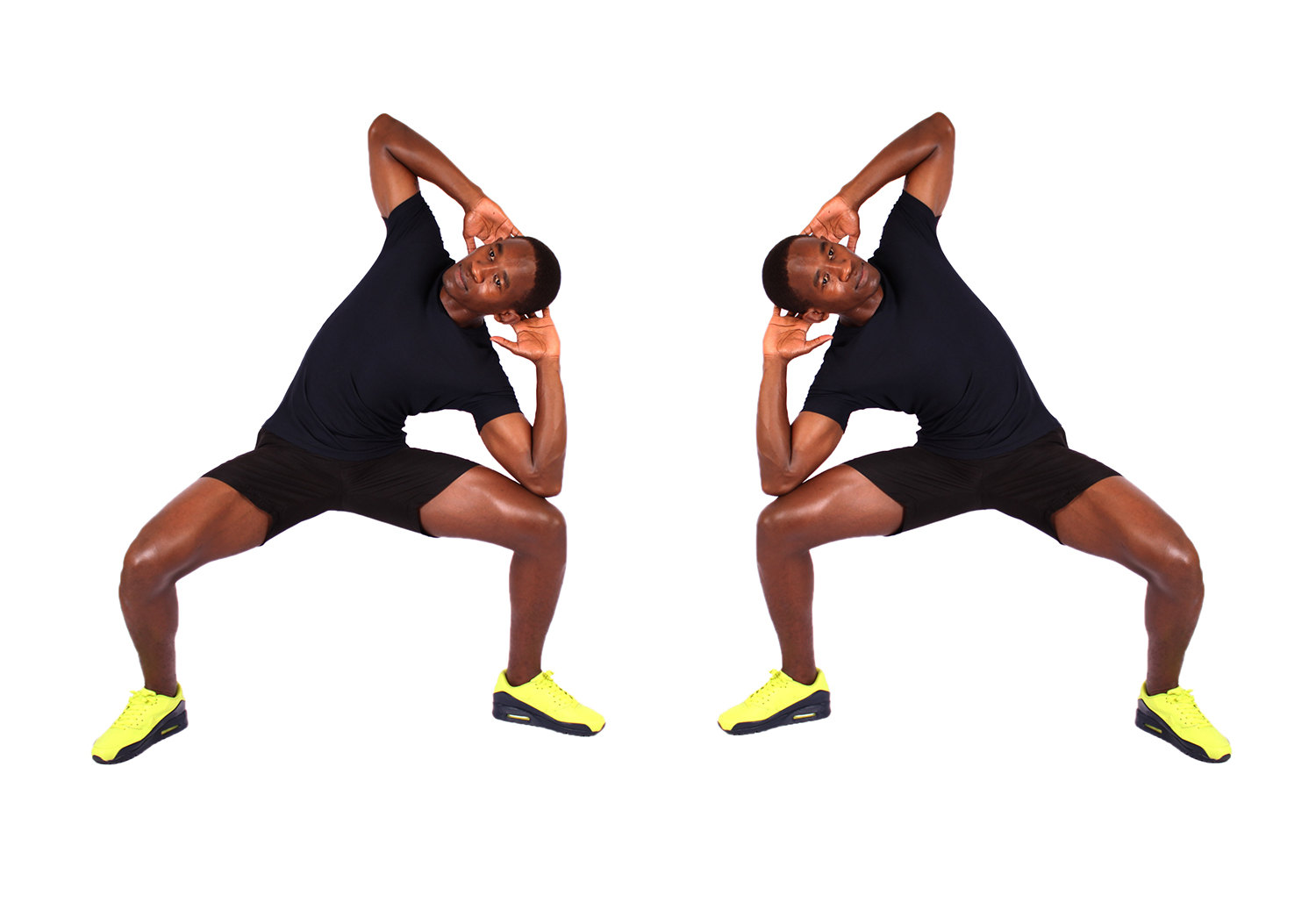 How to do squats side bends