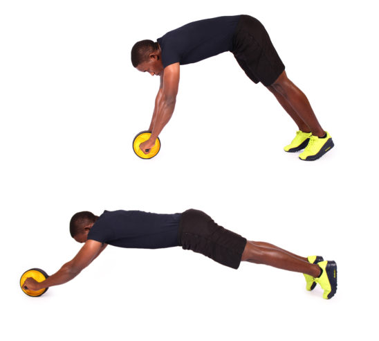 How to do standing ab wheel roller exercise