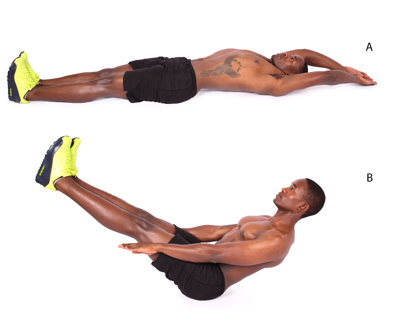How to do v ups ab exercise