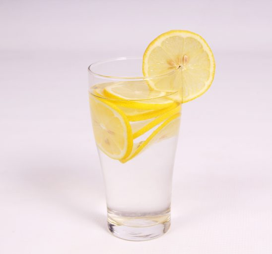 Lemon water in glass