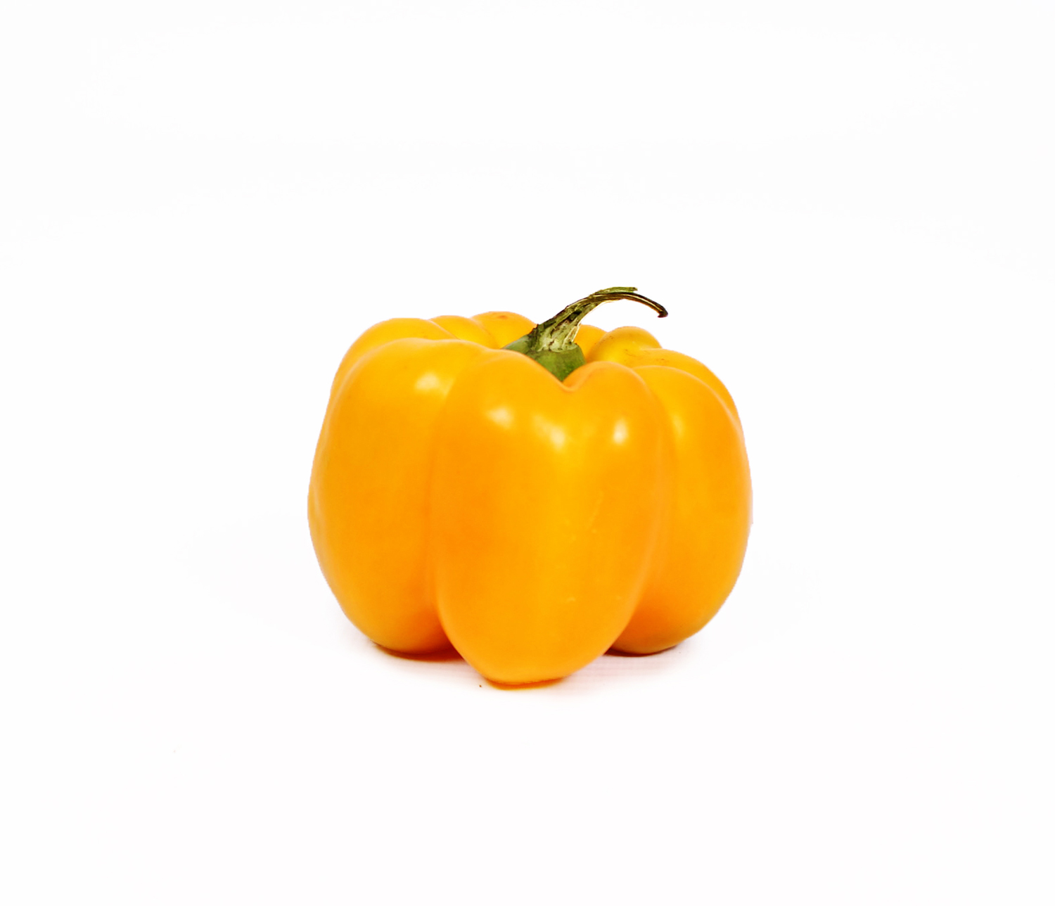 Yellow Capsicum Pepper Isolated on White Background
