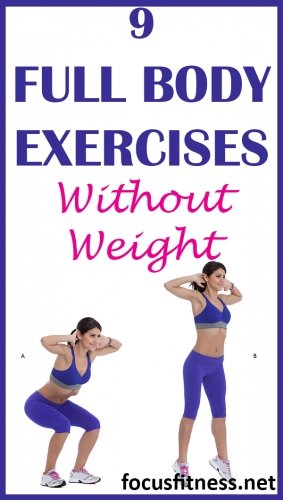 9 full body exercises you can do without weights