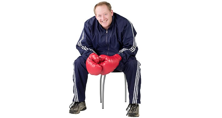 seated punches non weight bearing cardio exercise