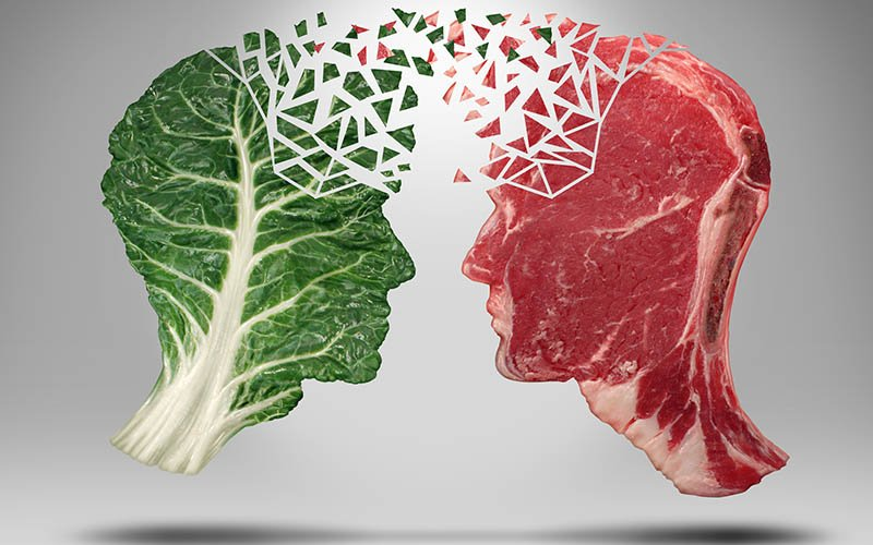 Side effects of eating meat after being vegetarian