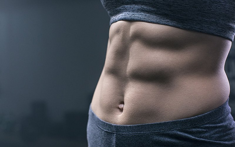 An workout for flat toned abs