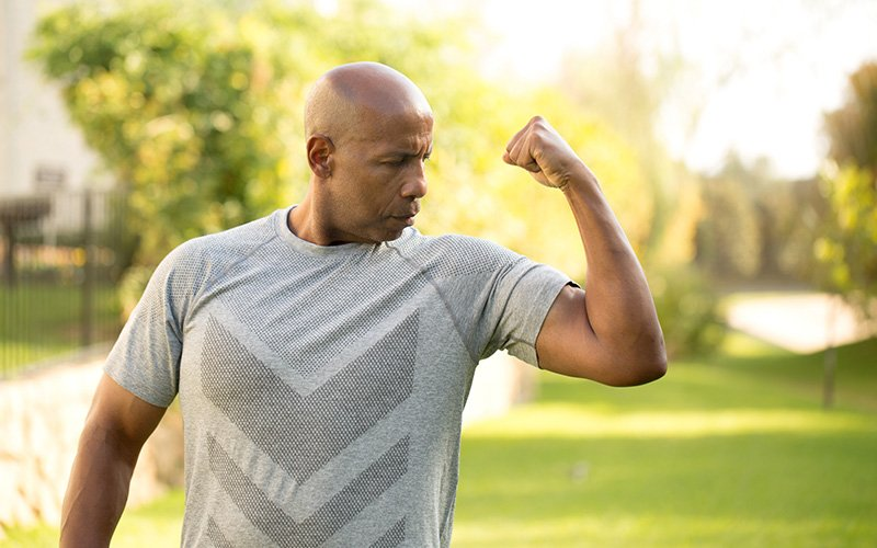 Building muscle after 40 without gym