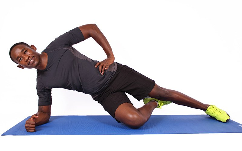 Plank workout for core and shoulders