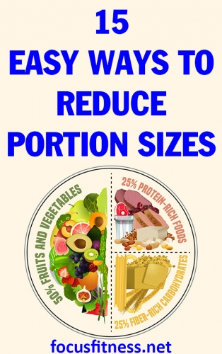 In this article, you will discover how to reduce food portion sizes without being hungry all the time or going on crazy diets. #portion #sizes #hunger #focusfitness
