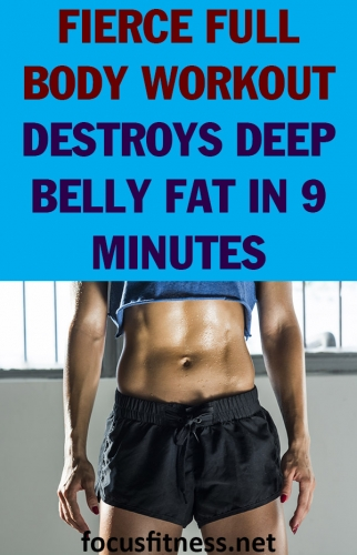 If you want to destroy deep belly fat, this workout will skyrocket your metabolism and allow you to eliminate the stubborn fat for good. #deep #belly #fat #workout #focusfitness
