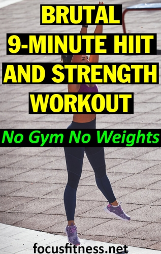 If you want to look good naked without going to the gym or lifting weights, do this brutal HIIT and strength workout in your bedroom #HIIT #workout #strength #focusfitness